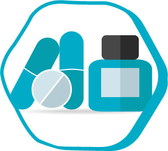 The symbol of medications used after a hair transplant