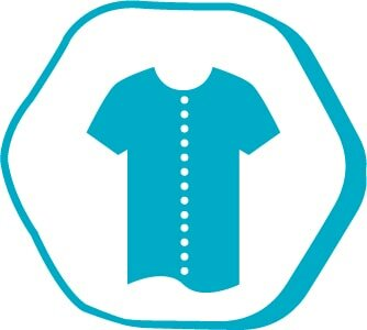 This symbol represents that buttoned shirt or a very wide collar T-Shirt should be worn during the operation.